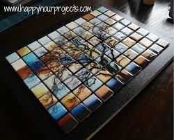 how to make an impressive glass tile tree mosaic