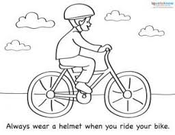 Bicycle Safety Luxury Bike Coloring Pages
