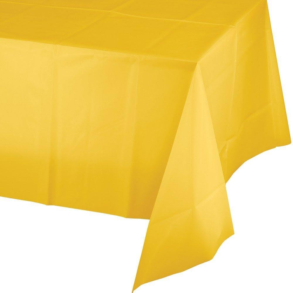 Creative Converting Plastic Table Cover - 140cm x 270cm