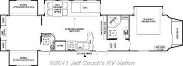 Fifth Wheel Bunkhouse Floor Plans by 2012 Cedar Creek Silverback 35qb4 5th Wheel Silver Edition