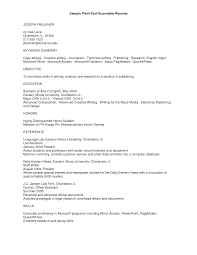 plain text resume format examples Roho 4senses