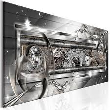 decomonkey akustikbild abstrakt 120x40 cm leinwand 1