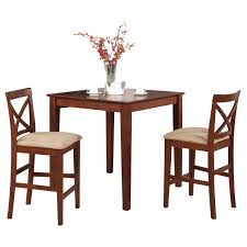 Shop Dark Brown Pub Table And 2 Stools 3-piece Dining Set - Free ...