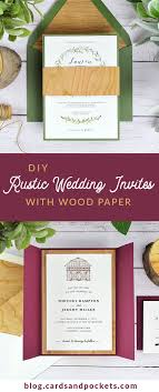 Pinterest How To DIY Rustic Wedding Invitations With