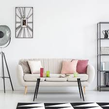 couchtisch retro look ablage im wohnzimmer niedrig
