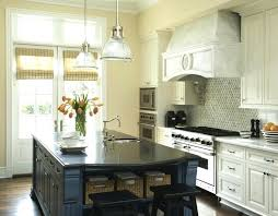 White Kitchen Island With Black Top Blue Transitional Inside Granite Architecture