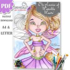 Fairies Adult Colouring Book PDF Printable Faeries Of
