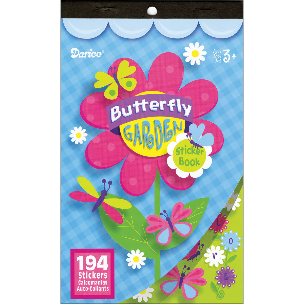 Darice Sticker Book - Butterflies Flowers, 194 Stickers