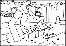 Minecraft Coloring Big Guy Pages