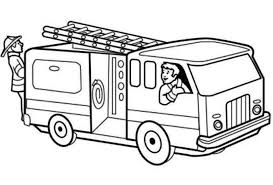 Printable Fire Truck Coloring Page For Kids 5181