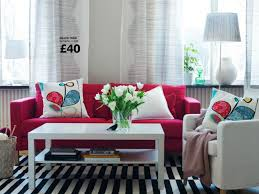 Living Room With Red Sofa Decorating Ideas Furniture