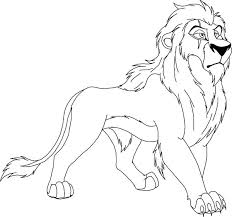 Lion Scar From The King Coloring Page