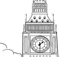 Big Ben Clock Tower Picture Coloring Pages