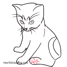 Coloring PagesHow To Draw Cat Easy Marvelous How 135