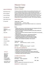 Nurse Manager Resume CV Job Description Example Sample Nursing Healthcare Format