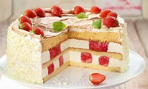 rhabarber erdbeer baiser torte