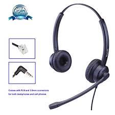 Phone Headset fice Binaural Telephone Headset with Amazon
