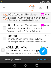 aol mail in the aol app for android faq aol help