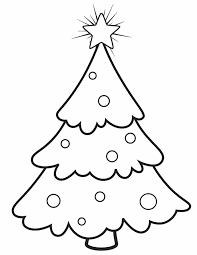 Christmas Tree Free Printable Coloring Pages