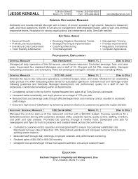Restaurant Resume Example New Free Best Manager Within