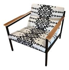 100 Gus Rocking Chair Modern Limited Edition Halifax In Pendleton Fabric Ish