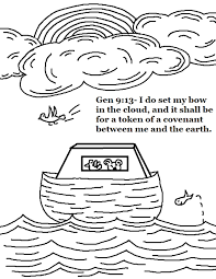 Ark Rainbow Coloring Page