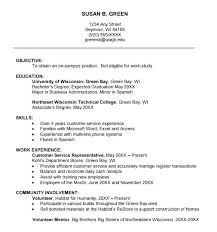 Resume Samples For College Student Examples Of Resumes Sample Free Format