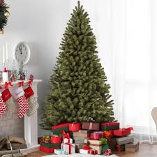 9ft Spruce Hinged Artificial Christmas Tree W Stand