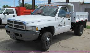 100 Pickup Truck Dump Bed 1997 Dodge Ram 3500 Dump Bed Pickup Truck Item K5648 SOL