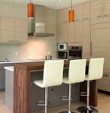 kitchens tiny modern kitchen with wood bar table and white