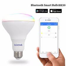ilintek bluetooth smart led light bulb multicolor br30 bulb