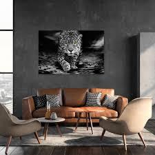 leopard vlies leinwand deko bilder wandbilder xl wohnzimmer