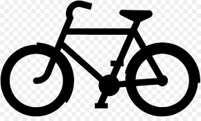 Bicycle Cycling Black And White Clip Art PNG Images Transparent