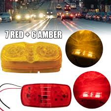 100 Truck Marker Lights Details About 13PCS 12LED Light Clearance Side RV Trailer 7 Red 6 Amber 12 Volt