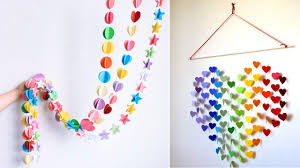 Amazing DIY 3D Wall Art Colorful Star Heart Round Shape Hanging