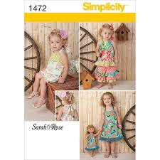 Amazoncom Simplicity Creative Patterns 1472 Toddlers Sportswear