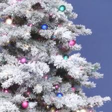 Sale On Pre Lit Slim Christmas Trees by 7 5 U0027 Flocked Alaskan Pre Lighted Christmas Tree Dura Lit U0026 G50 Bulbs