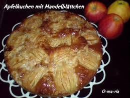 kuchen apfelkuchen mit mandelblättchen