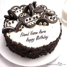 Write name on Oreo Birthday Cake Happy Birthday Wishes