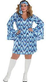 Adult Blue Disco Costume Plus Size