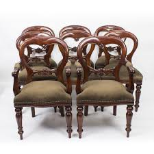 Set 8 Victorian Style Balloon Back Dining Chairs With Carved ... Antique Victorian Ref No 03505 Regent Antiques Set Of Ten Mahogany Balloon Back Ding Chairs 6 Walnut Eight 62 Style Ebay Finely Carved Quality Four C1845 Reproduction Balloon Back Ding Chairs Fiddleback Style Table And In Traditional Living Living Room Upholstery 8 Upholstered Lloonback Antique French