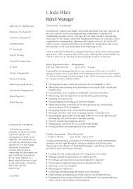 Sales Executive Resume Example Retail Manager Sample