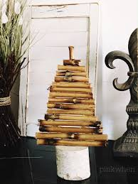 Driftwood Christmas Trees by Diy Gold Driftwood Tree Pottery Barn Knockoff Pinkwhen
