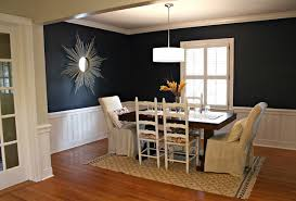 Dining Room With Beautiful Blue Paint