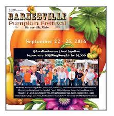 Pumpkin Festival Ohio by 53rd Barnesville Pumpkin Festival Tab 2016 By Barnesville Pumpkin