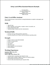 General Office Job Description Clerk For Resume Clerical Template Sample Entry Level Samples Mail Law Re
