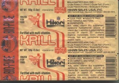 Hikari Bio-Pure Frozen Krill Fish Food - 16oz