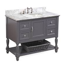 Bathroom Vanities 42 Inches Wide by Beverly 42 Inch Vanity Carrara Charcoal Gray U2013 Kitchenbathcollection