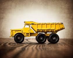 100 Yellow Dump Truck Vintage Toy In 5 Color Choices Saint Sailor Studios