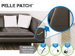canapé cuir qui colle pièce adhésive de réparation de cuir et vinyle noir amazon fr